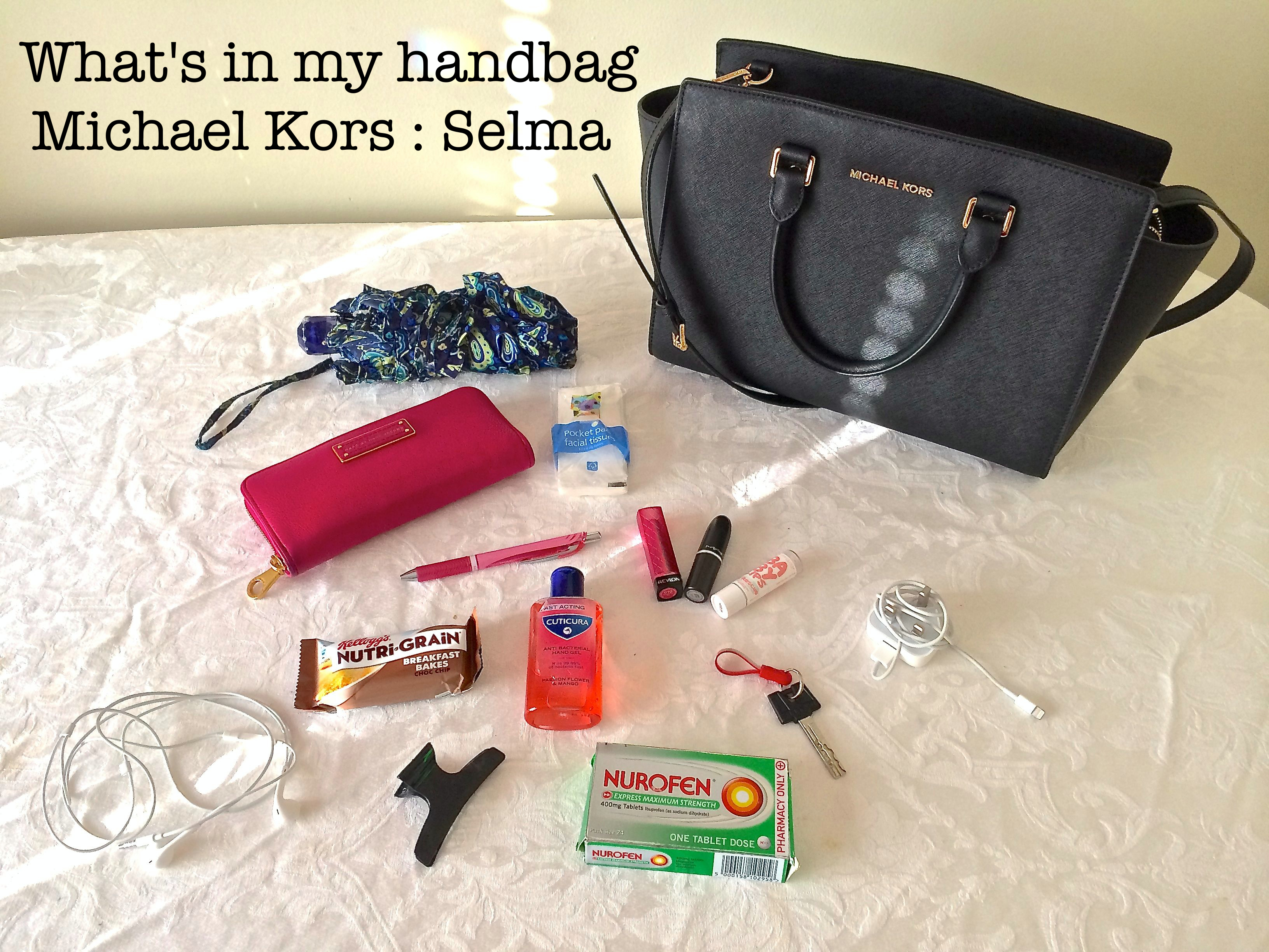 af5954ccc16da4 What's in my handbag – Michael Kors : Selma – What She Does Now